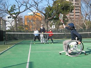 車椅子テニス1